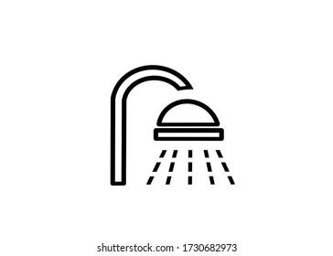 shower head illustration on white background style icon