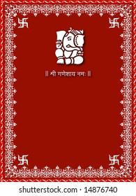 Ganesh Invitation Card Images Stock Photos Vectors