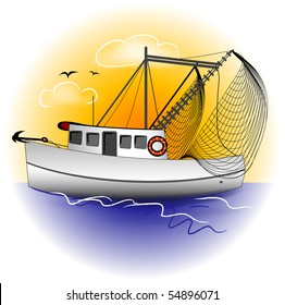 Shrimp Boat Graphic