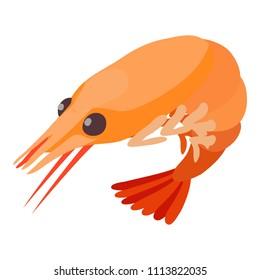Shrimp icon. Isometric illustration of shrimp icon for web