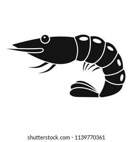 Shrimp icon. Simple illustration of shrimp icon for web design isolated on white background