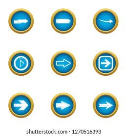 Shunter icons set. Flat set of 9 shunter icons for web isolated on white background