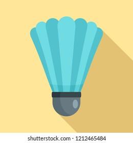 Shuttle birdie equipment icon. Flat illustration of shuttle birdie equipment icon for web design