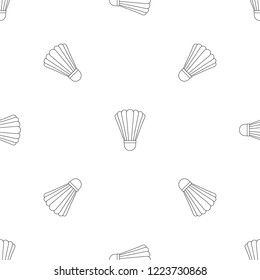 Shuttle birdie equipment pattern seamless repeat geometric for any web design