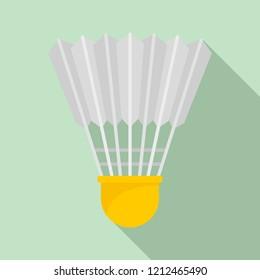 Shuttle birdie icon. Flat illustration of shuttle birdie icon for web design