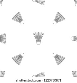 Shuttle birdie pattern seamless repeat geometric for any web design