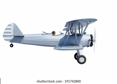 side view of a biplane