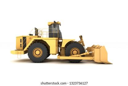 Powerfull Concept Massive Yellow Hydraulic Earth Stock