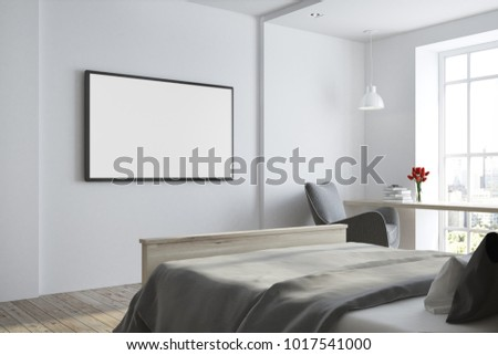 Bedroom side view Window Side View Of White Bedroom With Tv Set On White Wall And Shutterstock Royalty Free Stock Illustration Of Side View White Bedroom Tv Set