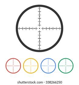 Sight device icon. Flat design style modern illustration.