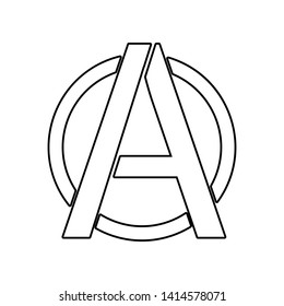 a sign of anarchy icon. Element of Communism Capitalism for mobile concept and web apps icon. Outline, thin line icon for website design and development, app development