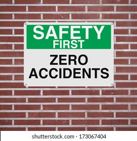 A sign highlighting the importance of safety