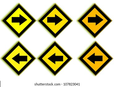 Sign to the left and right.