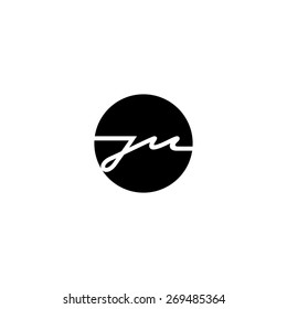 Sign of the letter J and M. Branding Identity Corporate logo design template Isolated on a white background