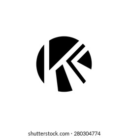 Sign of the letter K and C.  Branding Identity Corporate logo design template Isolated on a white background