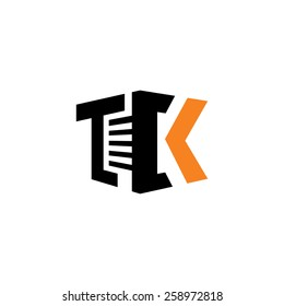 Sign of the letter T, C and K. Real Estate sign Branding Identity Corporate logo design template Isolated on a white background
