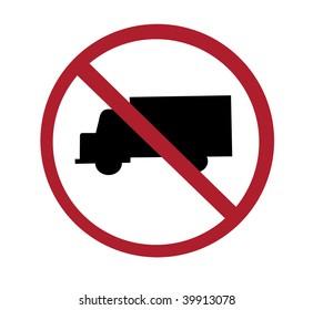 sign - no through trucks