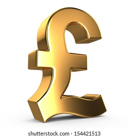 Sign of pound on white isolated background