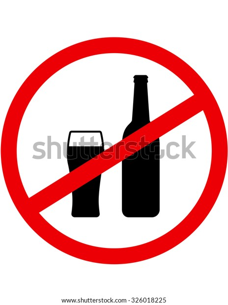 Sign Stop Drinking Alcohol Beer Bottle Stock Illustration