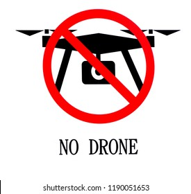 A sign that rules out the use of drones