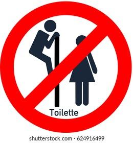 Sign toilet voyeurism forbidden