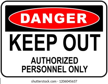 sign in the united states: danger do not enter - no trespassing - keep out