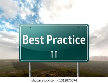 Signpost with Best Practice wording