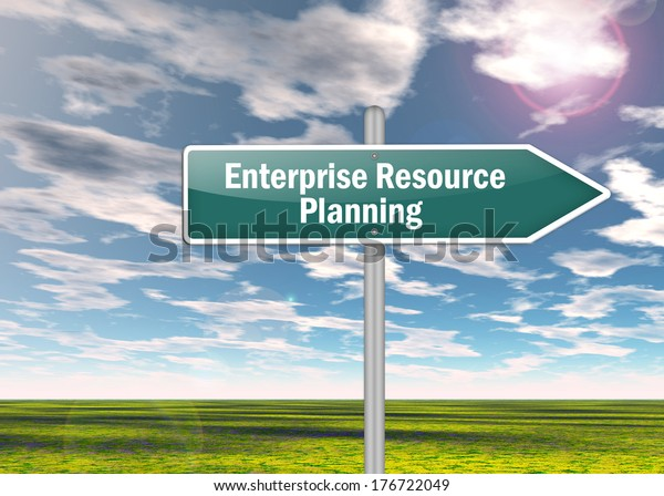 Signpost with Enterprise Resource Planning wording