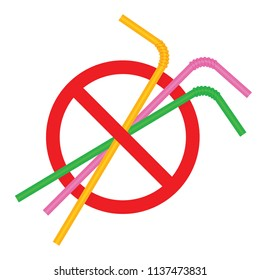 signs stop straw tube plastic, refusal of disposable plastic drinking straw in favor of drinking straws, ban plastic drinking straws, stop sign on white background