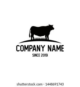 Silhouette Black Angus Logo Design Inspiration