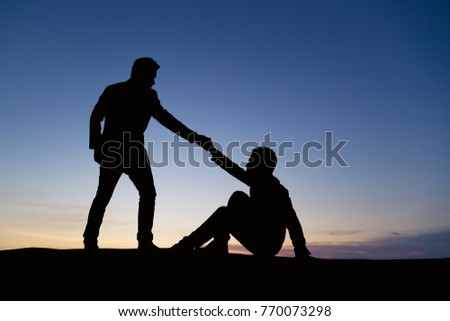 Men helping each other out