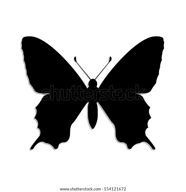 silhouette butterfly/ illustration