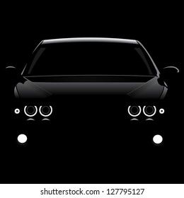 Silhouette car