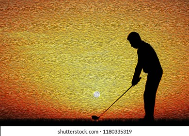Golf Painting Images Stock Photos Vectors Shutterstock
