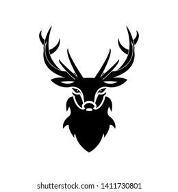 silhouette head cool deer black
