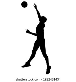 a silhouette illustration of an athlete throwing a ball.