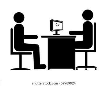 Silhouette Job Interview (Male Boss & Male Candidate)