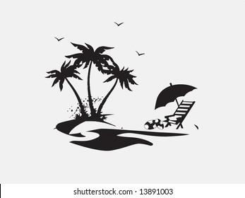Beach Chair Silhouette Images, Stock Photos & Vectors ...