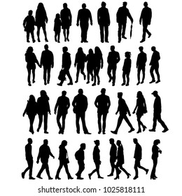 silhouette people go, collection
