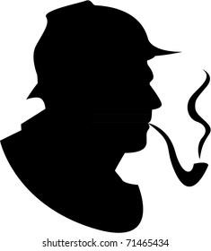 the silhouette pipe smoker