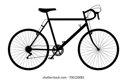 Silhouette of a racing bicycle Computer generated 2D illustration