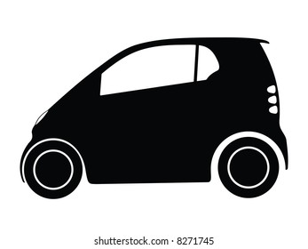 Silhouette small car, illustration