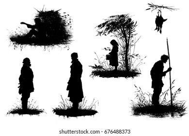 Silhouettes from life.