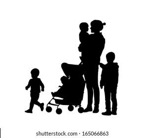 Mother 4 Children Images Stock Photos Vectors Shutterstock