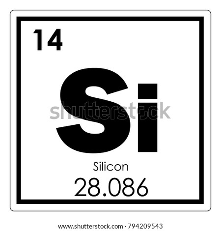 Silicon Chemical Element Periodic Table Science Stock Illustration