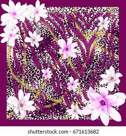 silk scarf bandanna shawl