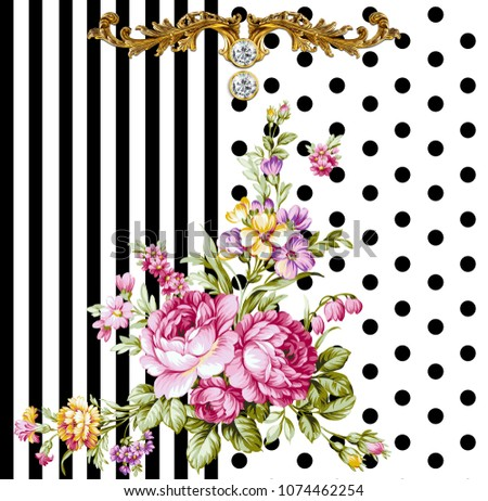 Silk Scarf Design Fashion Textile Baroque Stock Illustration ... 824b1791760