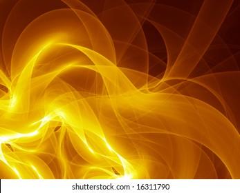 Silken Gold Smoke - Fractal Illustration