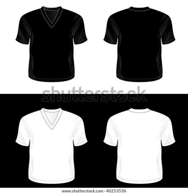376671c662f7db Silkscreen Series Black White Realistic Blank Stock Illustration ...
