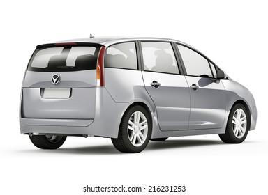 Silver 3D Car